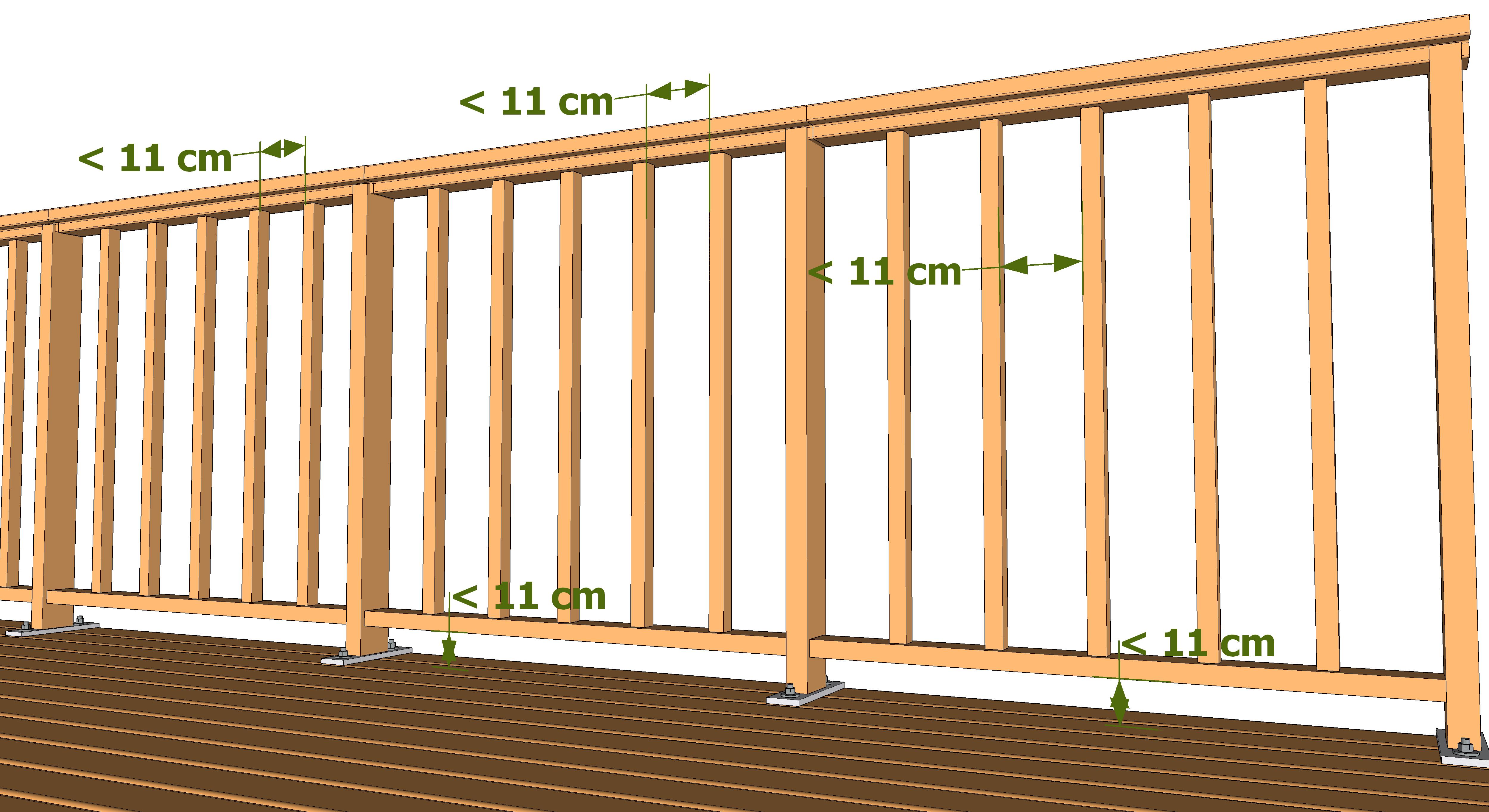 rambarde et garde corps les guides de la construction bois. Black Bedroom Furniture Sets. Home Design Ideas