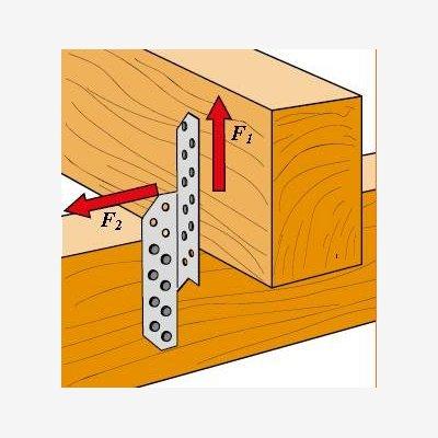 Patte de solivage standard r f psg220 45 2 10 largeur a 45mm hauteur e patte de for Construction bois 93