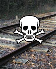 Traverses De Chemin De Fer Attention Danger Les