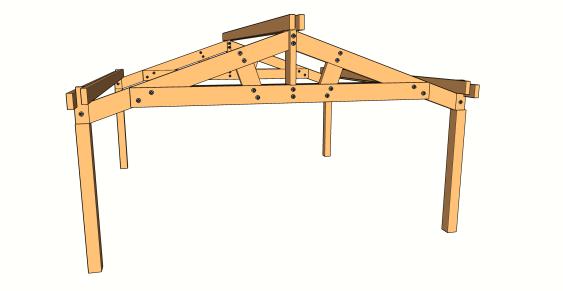 l 39 assemblage de la ferme avec entrait retrouss les guides de la construction bois. Black Bedroom Furniture Sets. Home Design Ideas