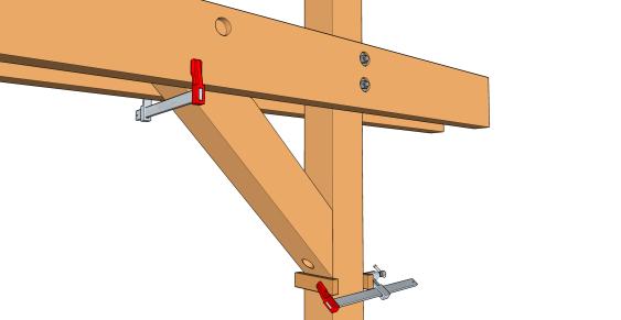 La pose des bras de contreventement les guides de la construction bois for Construction bois 49