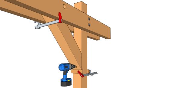 la pose des bras de contreventement les guides de la construction bois. Black Bedroom Furniture Sets. Home Design Ideas