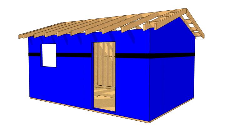 Rev tement en panneaux de bois les guides de la construction bois for Construction bois 49