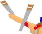 Cr ation d 39 une arase et coupe en biais en extr mit d 39 une for Construction bois 87