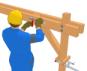 La pose des bras de contreventement les guides de la for Construction bois 87