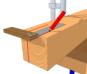 R aliser un assemblage gargouille les guides de la construction bois for Construction bois 71